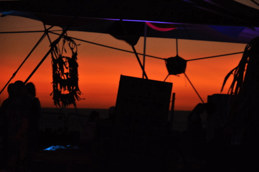 Sunset view at Bubble festival