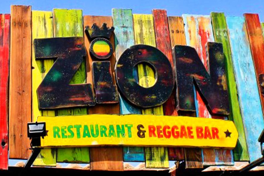 Zion reggae bar logo