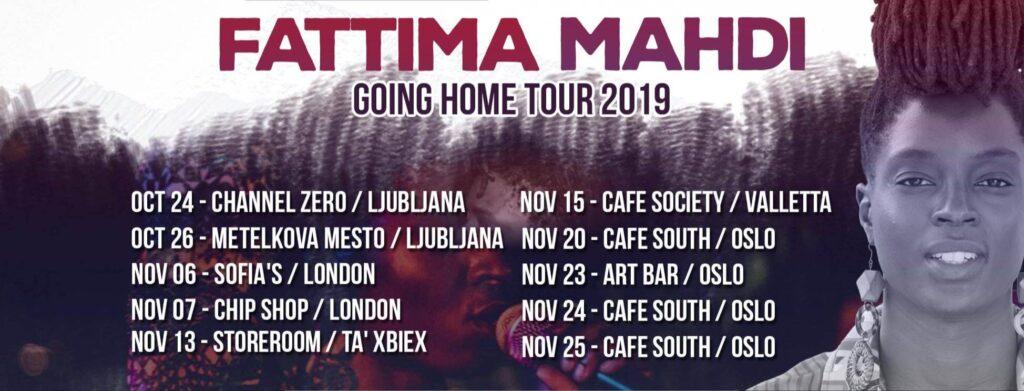 Fattima Mahdi 2019 Tour