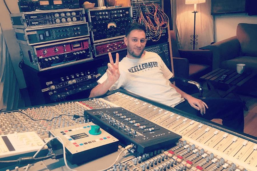 Dr Meaker in the studio