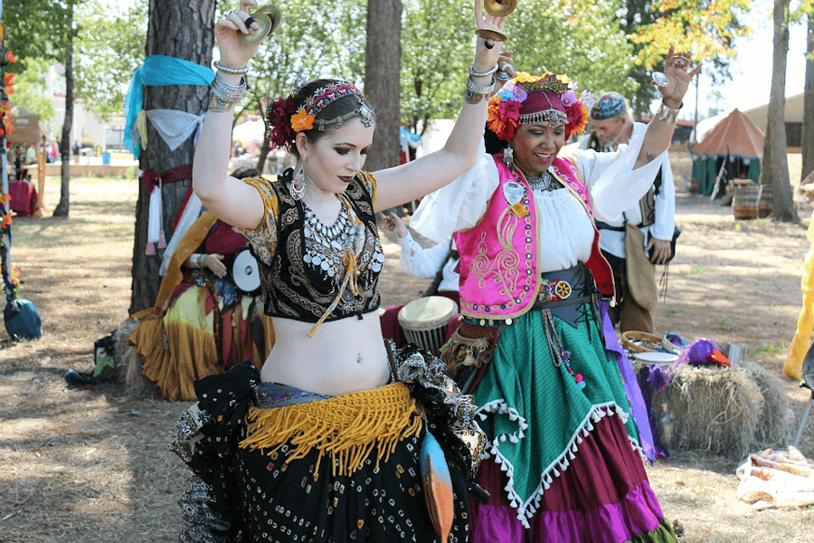 Belly Dancers in performance