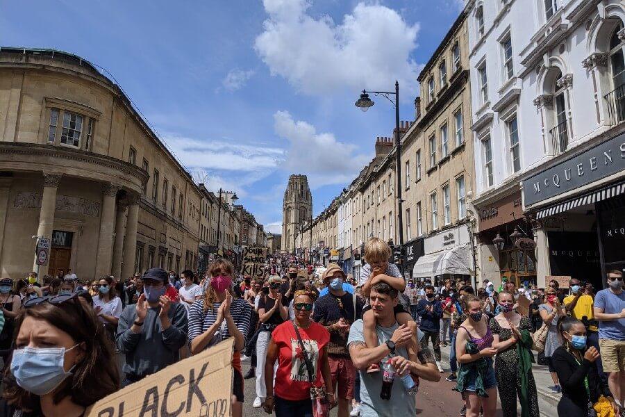 BLM protest Bristol