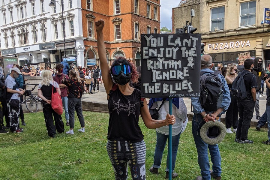 From the BLM protest Bristol