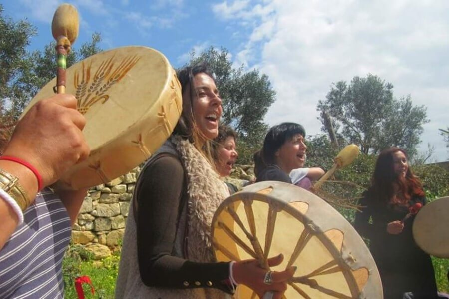 We drum together, laugh together, cry together, sing and honour nature