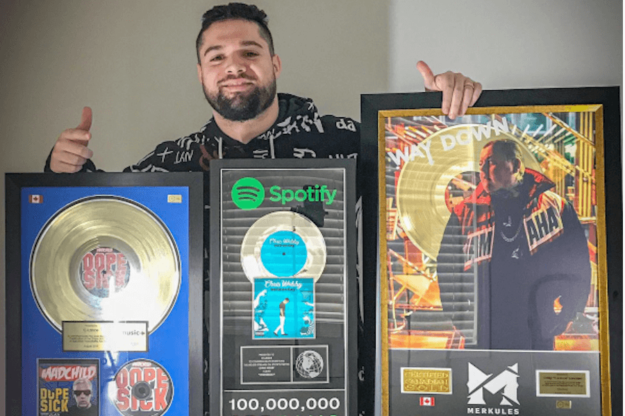 C-Lance with his plaques